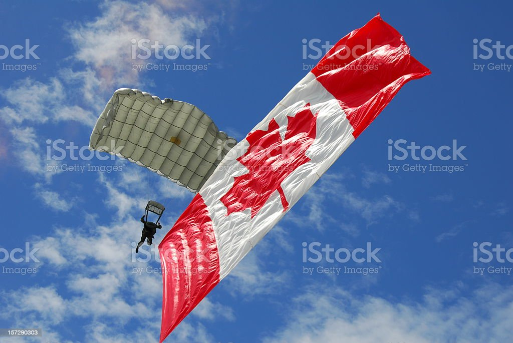 Canada Day Parachute Team stock photo