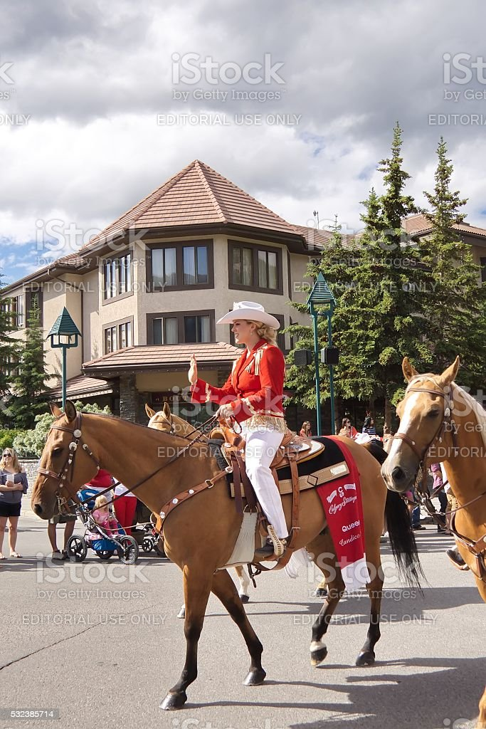 Canada Day Parade in Banff stock photo