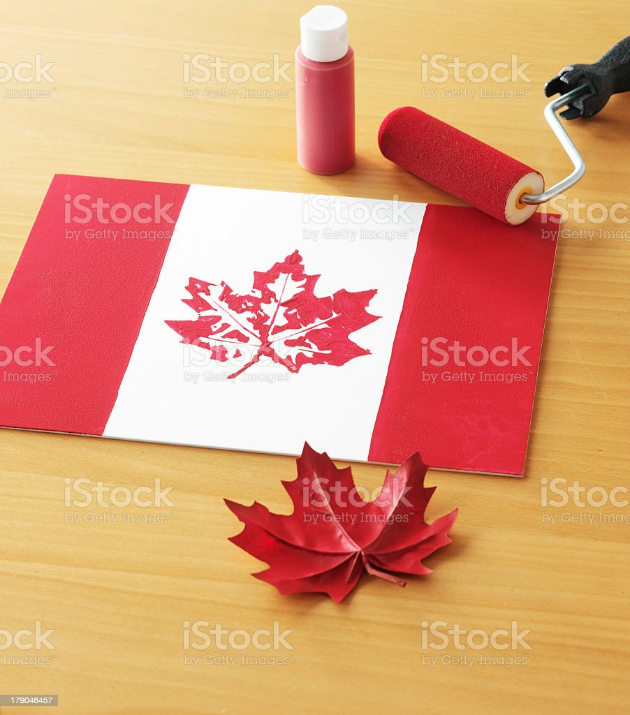 Canada Day Placemat stock photo