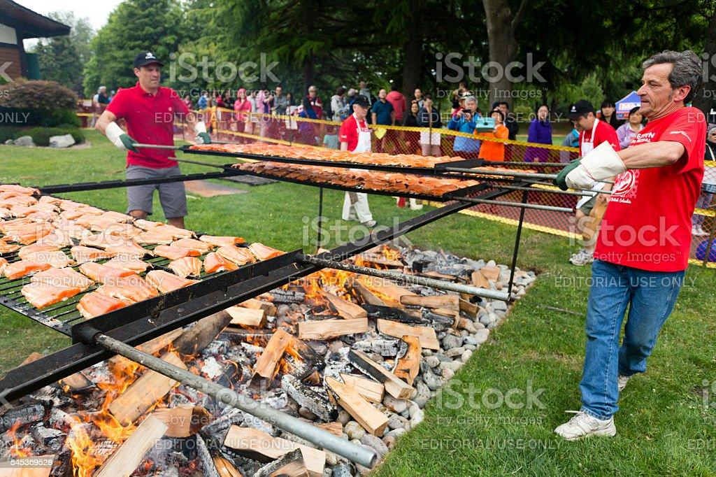 Canada Day Steveston Salmon Festival stock photo