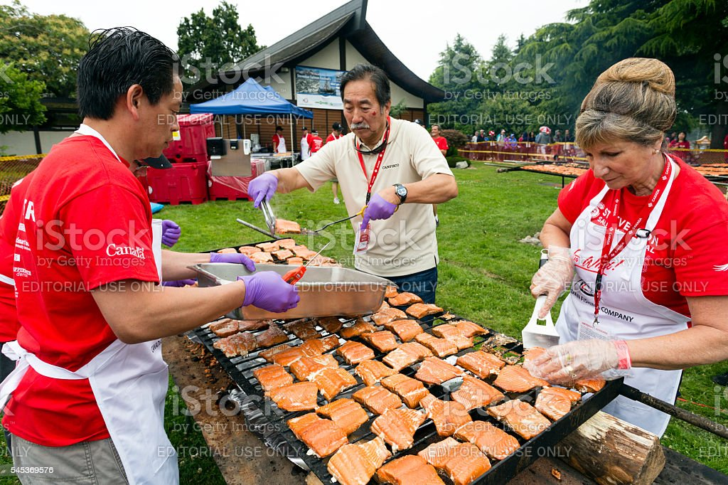 Canada Day Steveston Salmon Festival stock photo