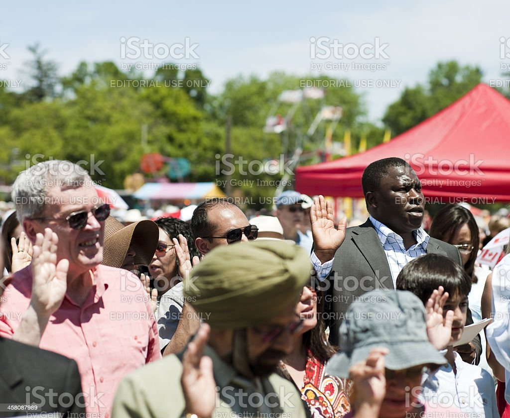 Canada Day Swearing-in Ceremony for New Citizens stock photo