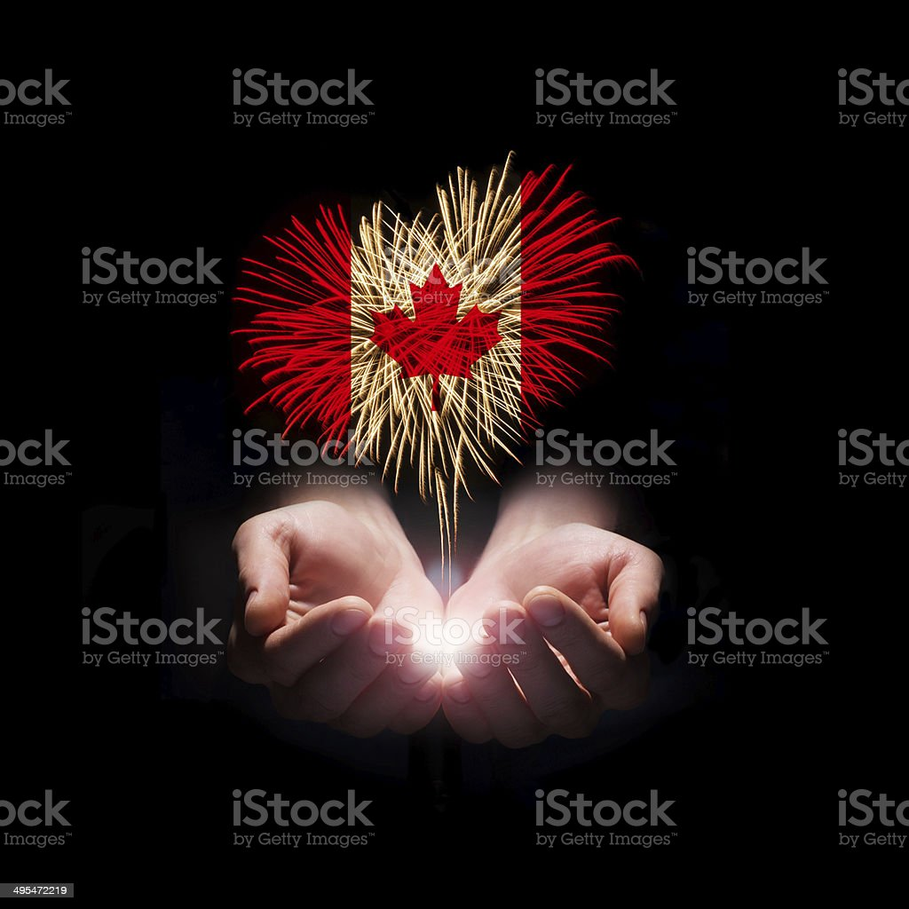 Canada day. Welcome to Canada stock photo