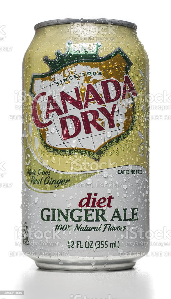 Canada Dry Diet Ginger Ale can stock photo