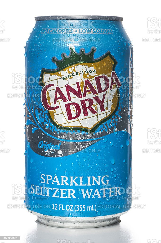 Canada Dry Sparkling Seltzer Water can stock photo