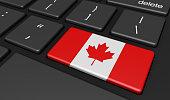 Canada Flag Computer Button Key