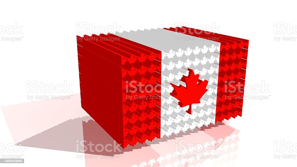 canada flag from maple leafs stock photo