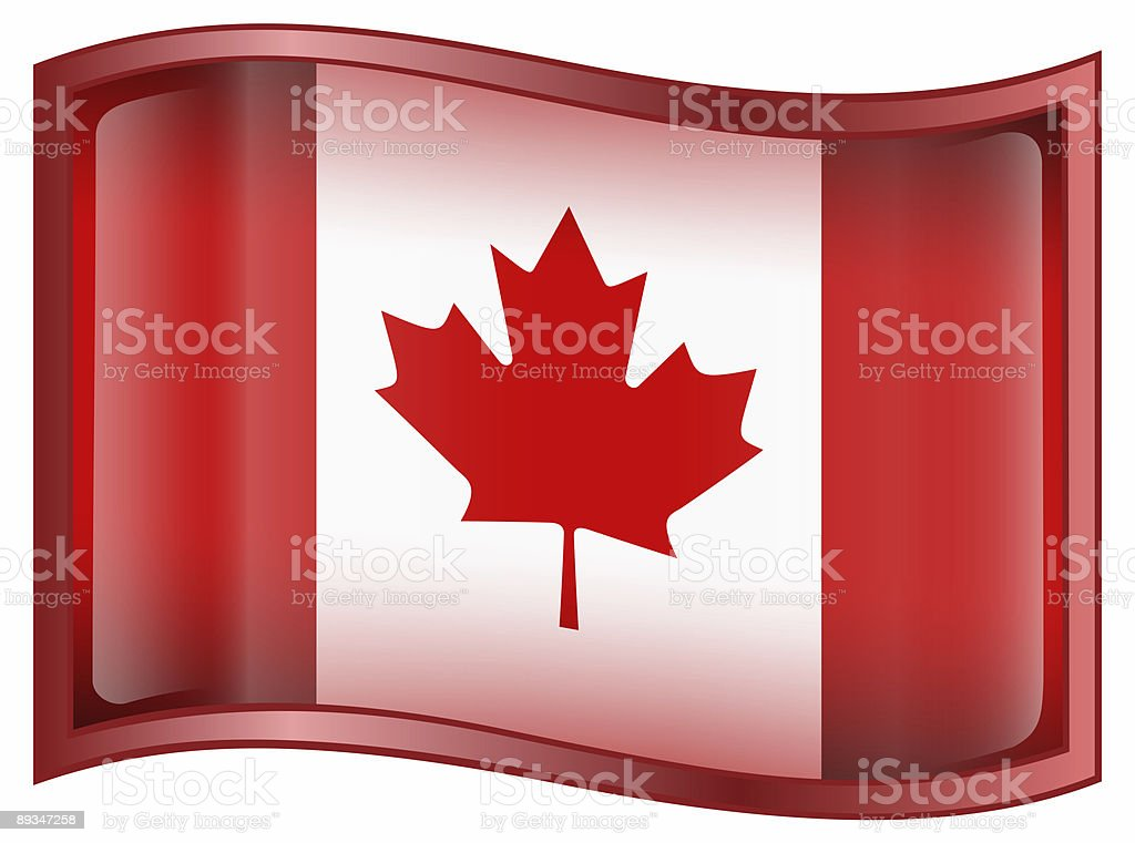 Canada Flag Icon, isolated on white background royalty-free stock photo