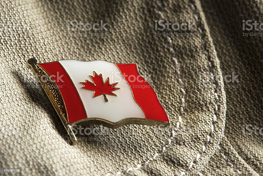 Canada flag lapel pin. royalty-free stock photo