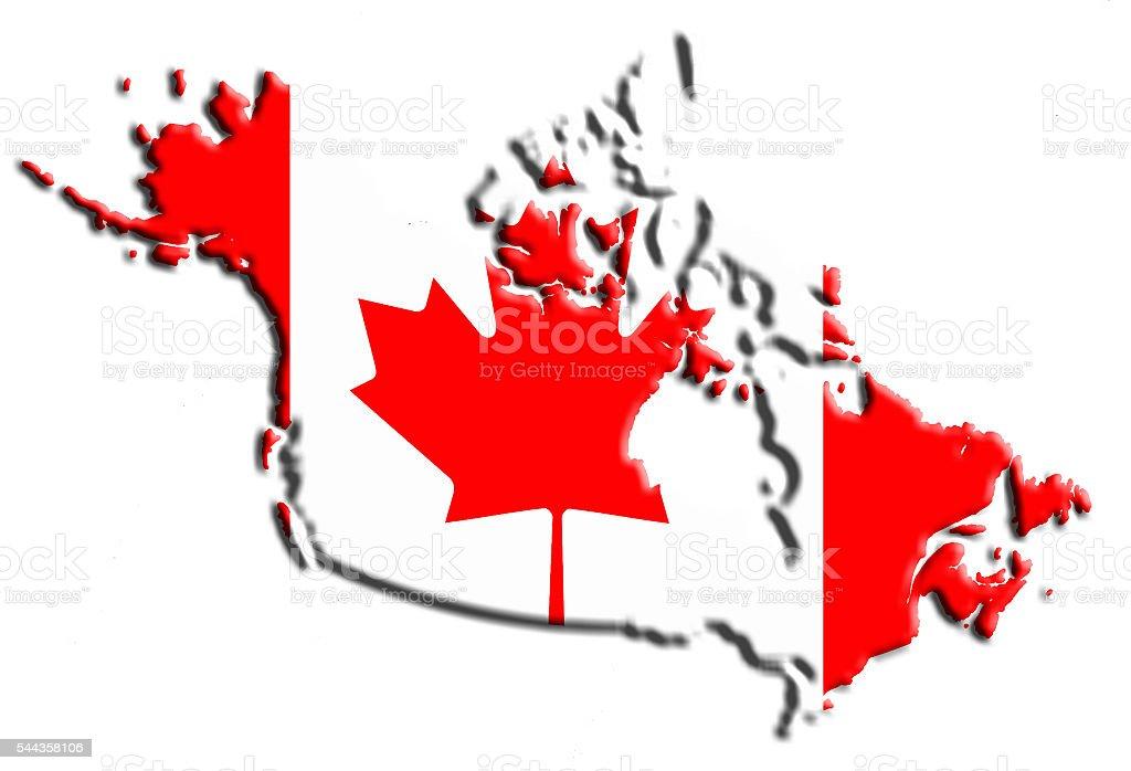 Canada flag map stock photo