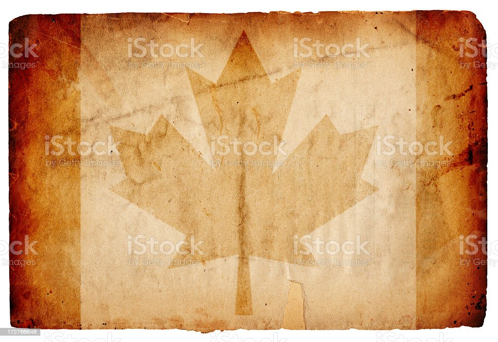 Canada Flag Paper XXL royalty-free stock photo