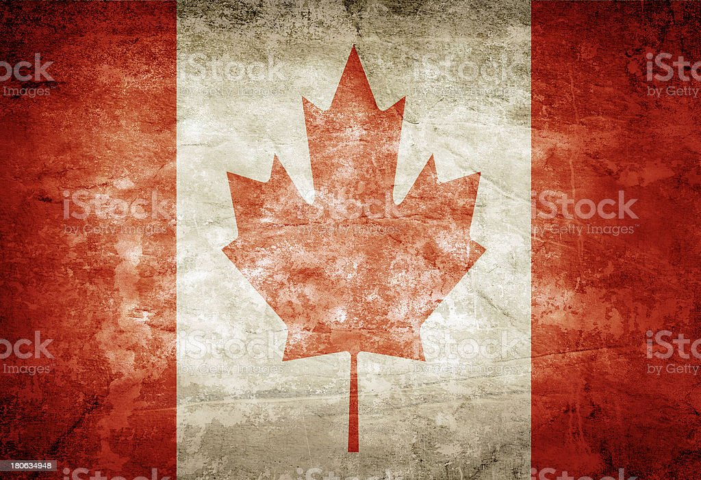 Canada flag royalty-free stock photo