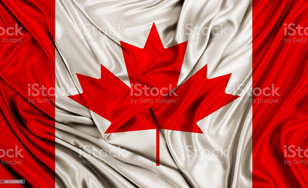 Canada flag - silk texture stock photo