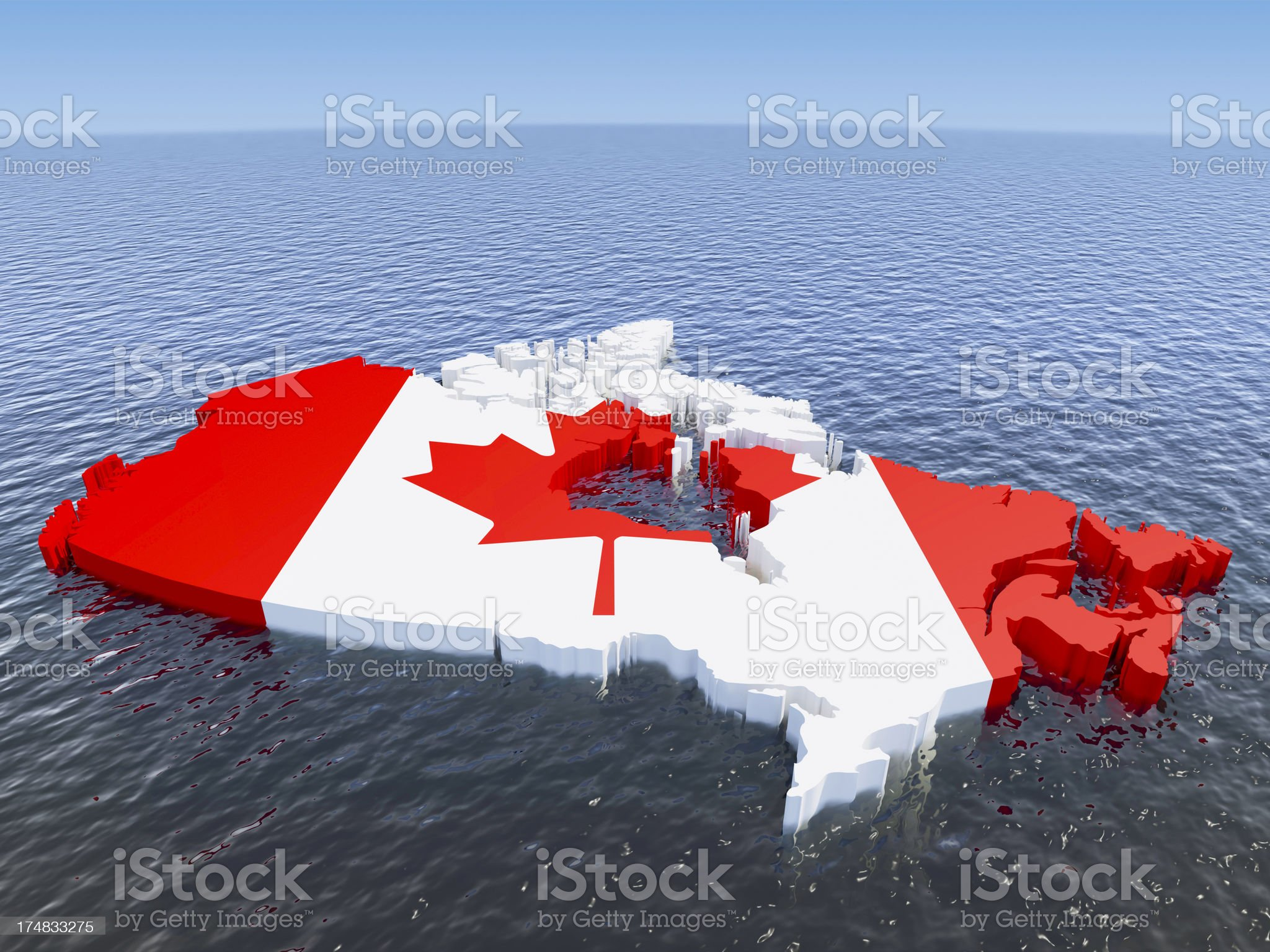 Canada floating royalty-free stock photo