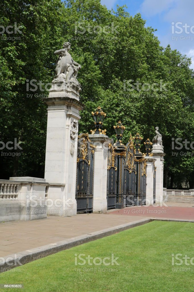 Canada Gate to Green park in London, England United Kingdom stock photo