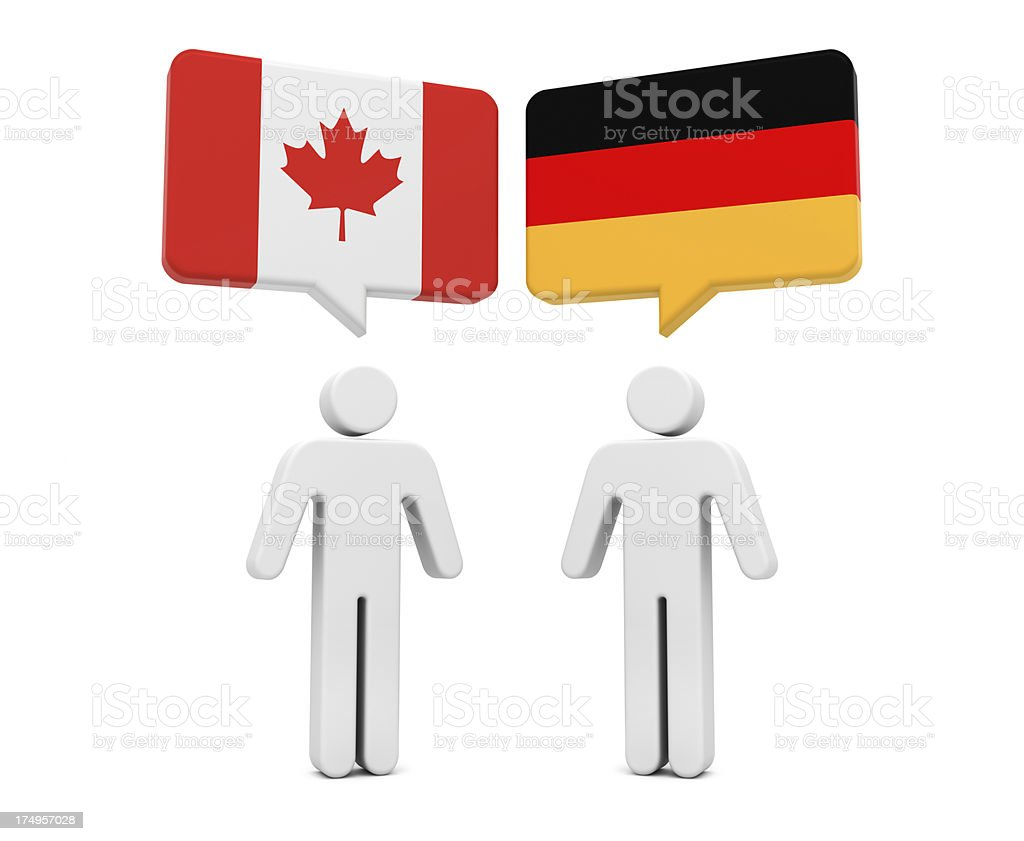 Canada Germany Concept royalty-free stock photo