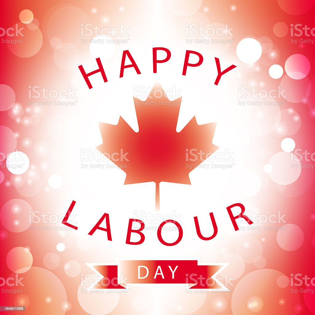 canada happy labour day greeting card vector art illustration