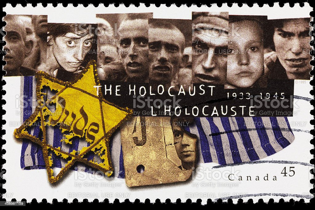 Canada Holocaust memorial postage stamp stock photo