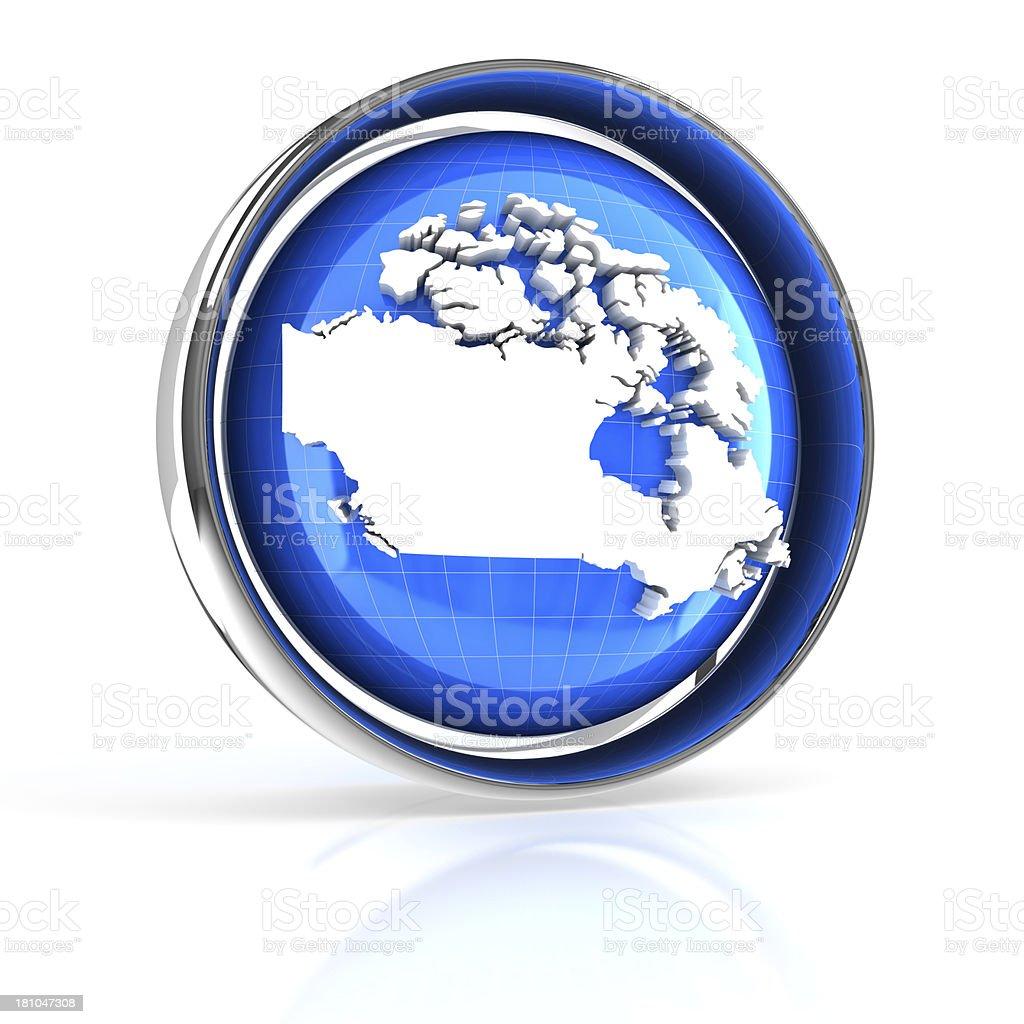 Canada icon royalty-free stock photo