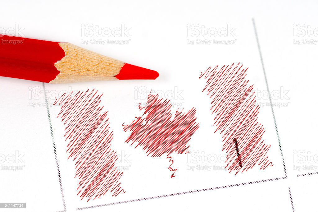 canada independence day calendar stock photo