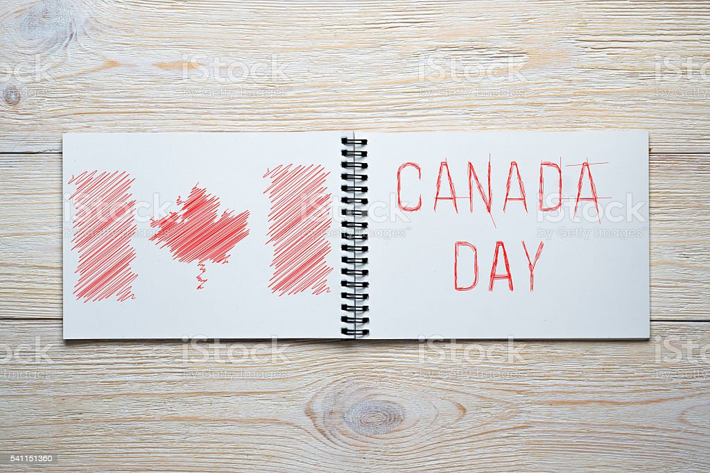 canada independence day stock photo
