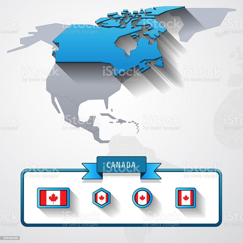 Canada info card stock photo