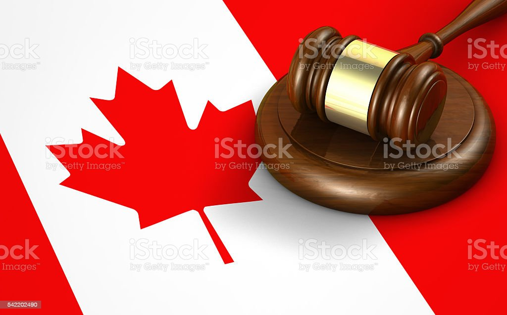 Canada Law Legal System Concept stock photo