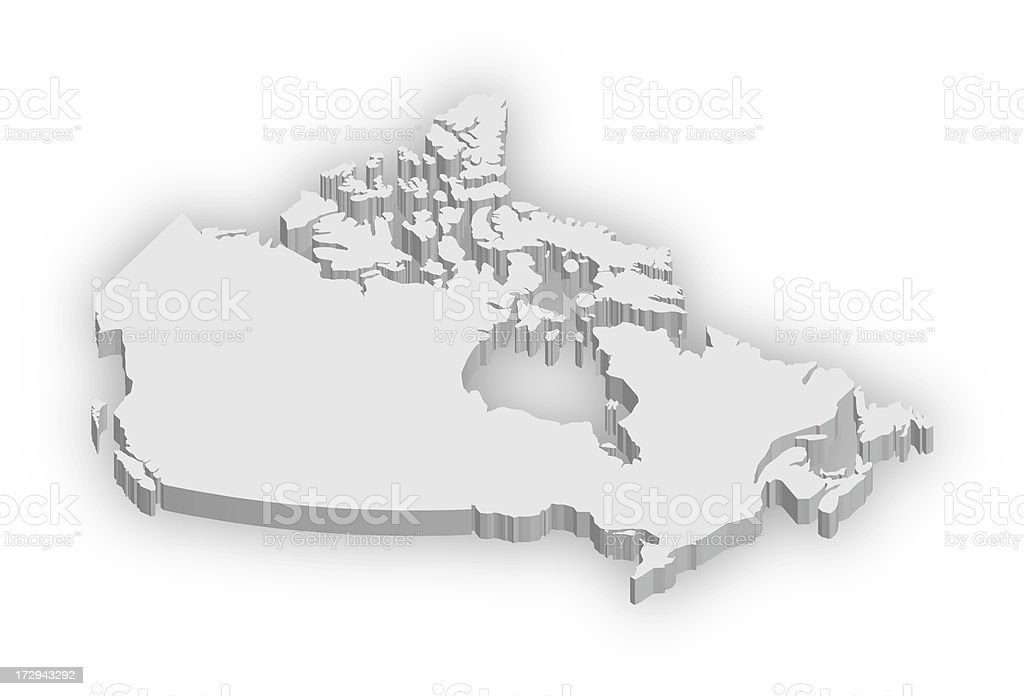 Canada Map royalty-free stock photo