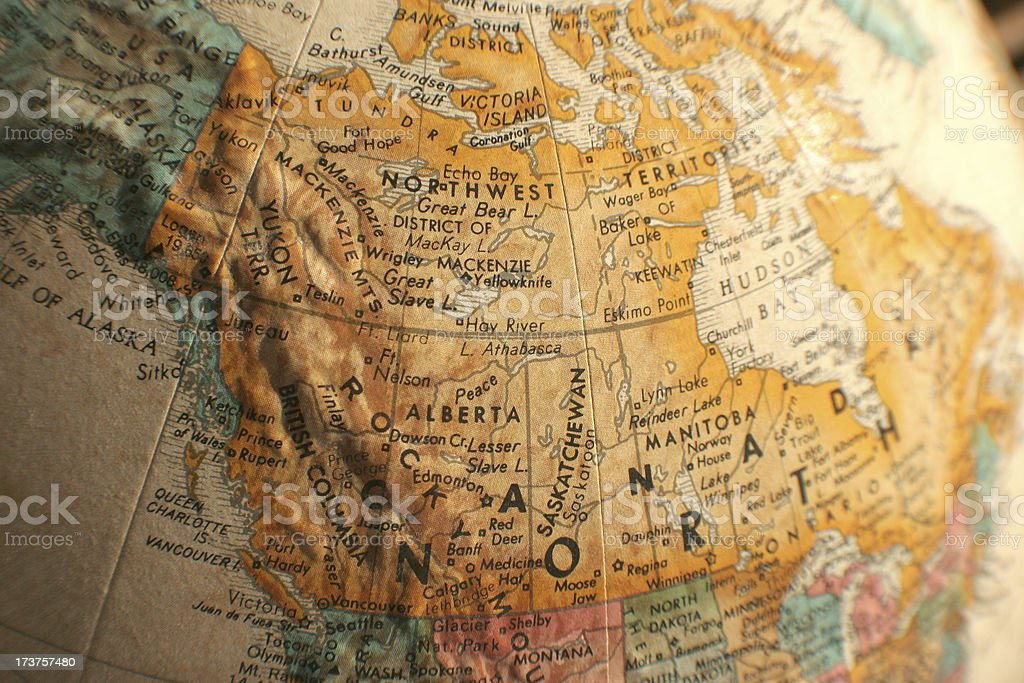 Canada map stock photo