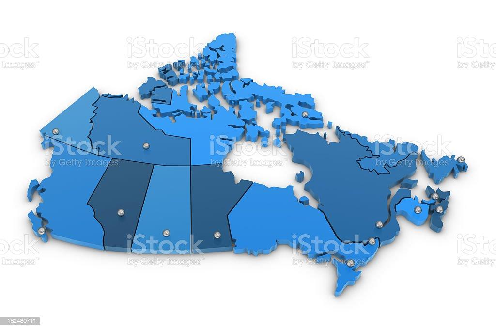 Canada Map royalty-free stock photo