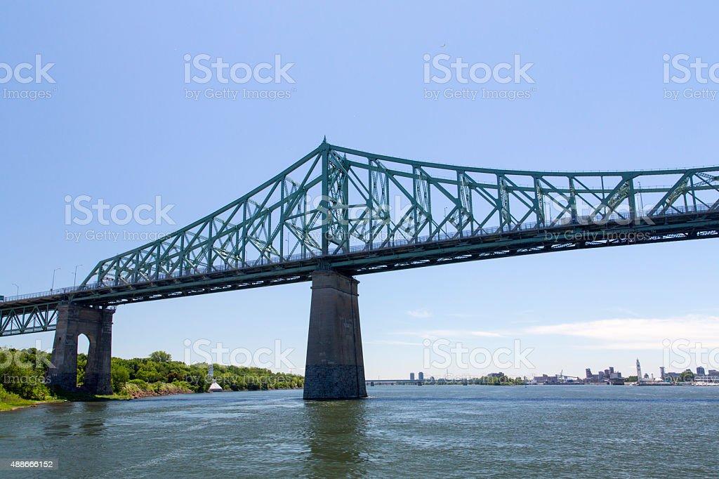 Canada - Montreal - Jacques Cartier bridge stock photo