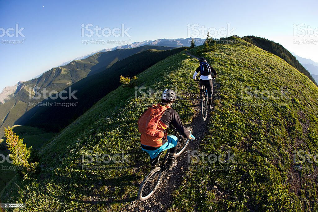 Canada Mountain Biking stock photo
