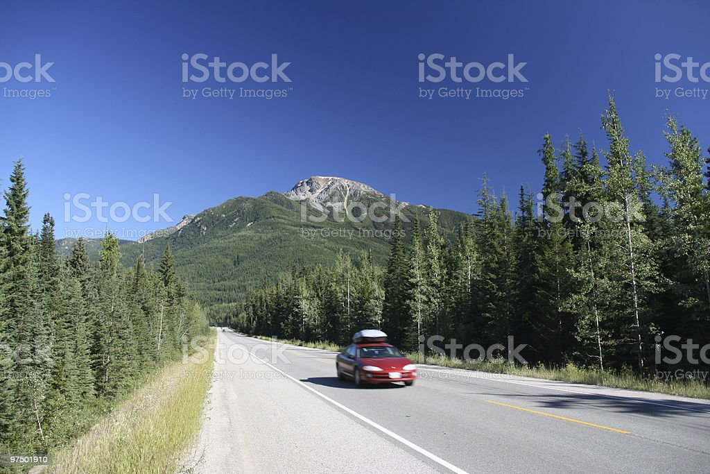Canada mountain landscape stock photo