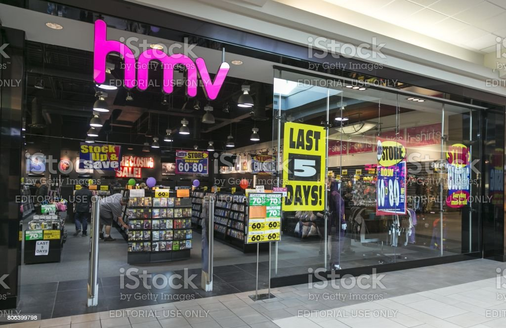 HMV Canada Nationwide Store Closure stock photo