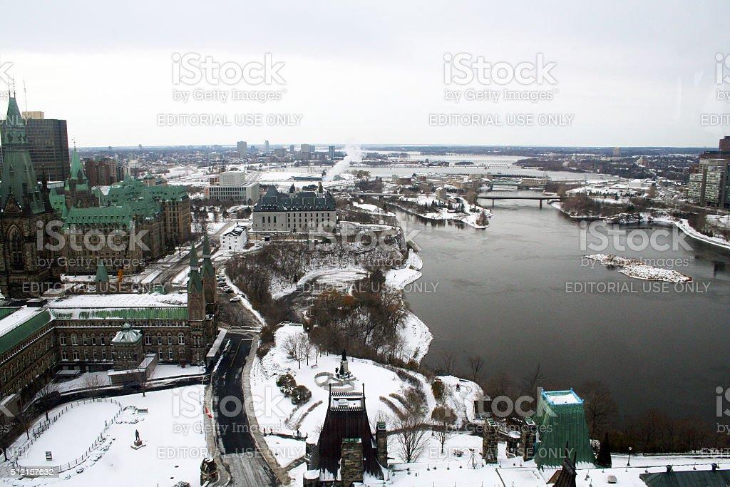 Canada: Parliament Buildings in Ottawa stock photo