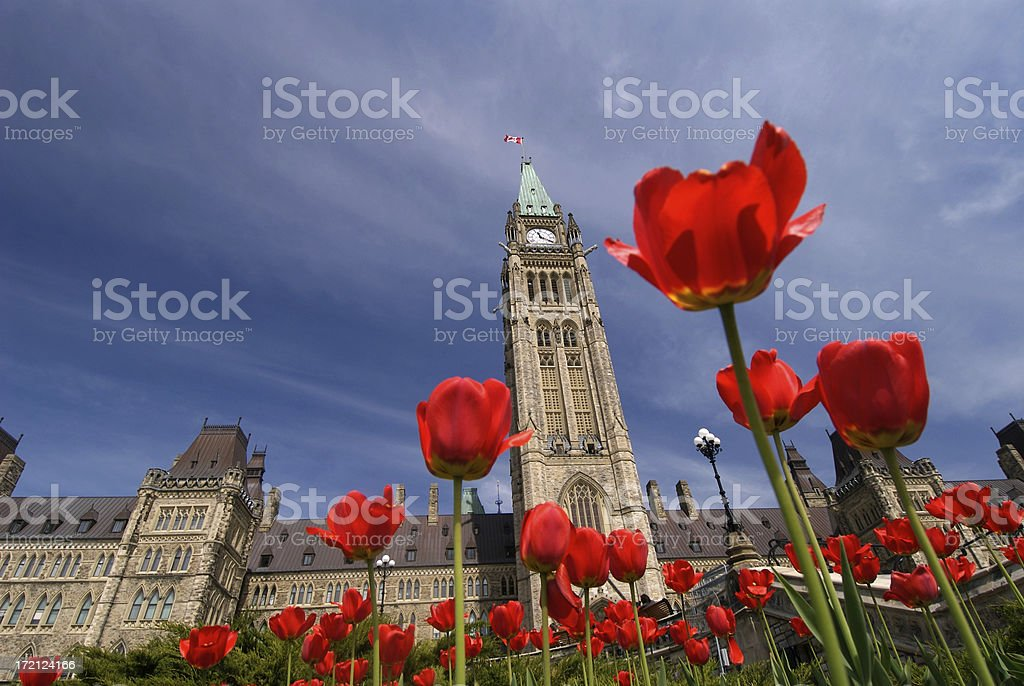 Canada Parliment Buildings stock photo