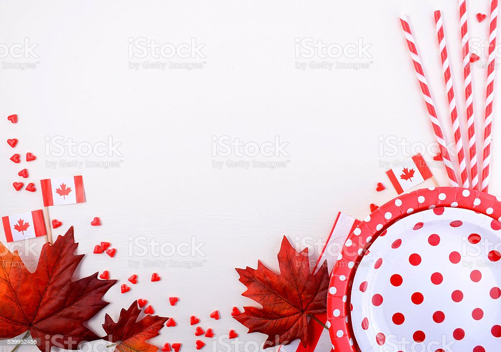 Canada Party Table Background stock photo