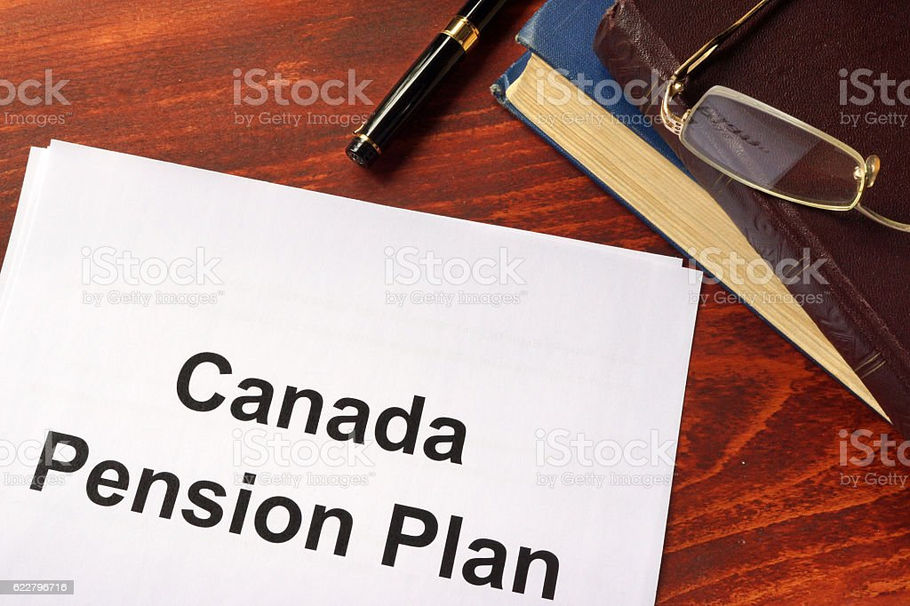 Canada Pension Plan CPP written on a sheet . stock photo