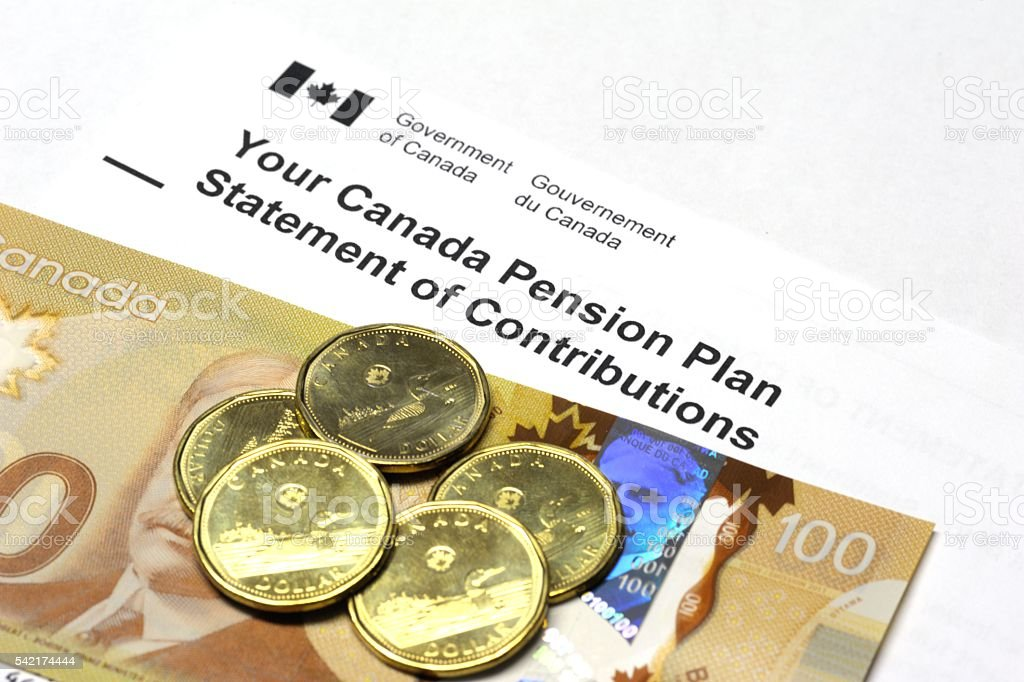 CPP: Canada Pension Plan Statement stock photo