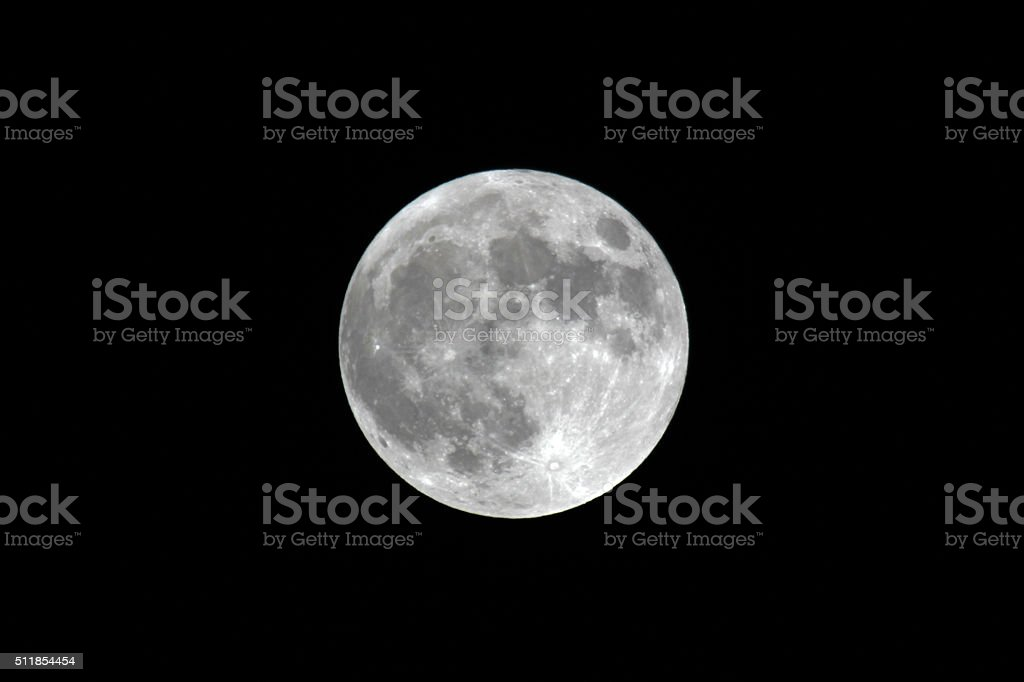 Canada: Perigee Super Moon stock photo