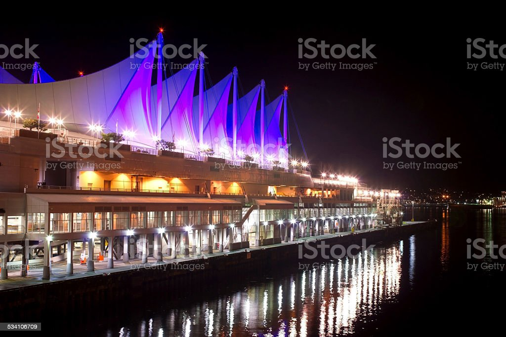 Canada Place at Night stock photo