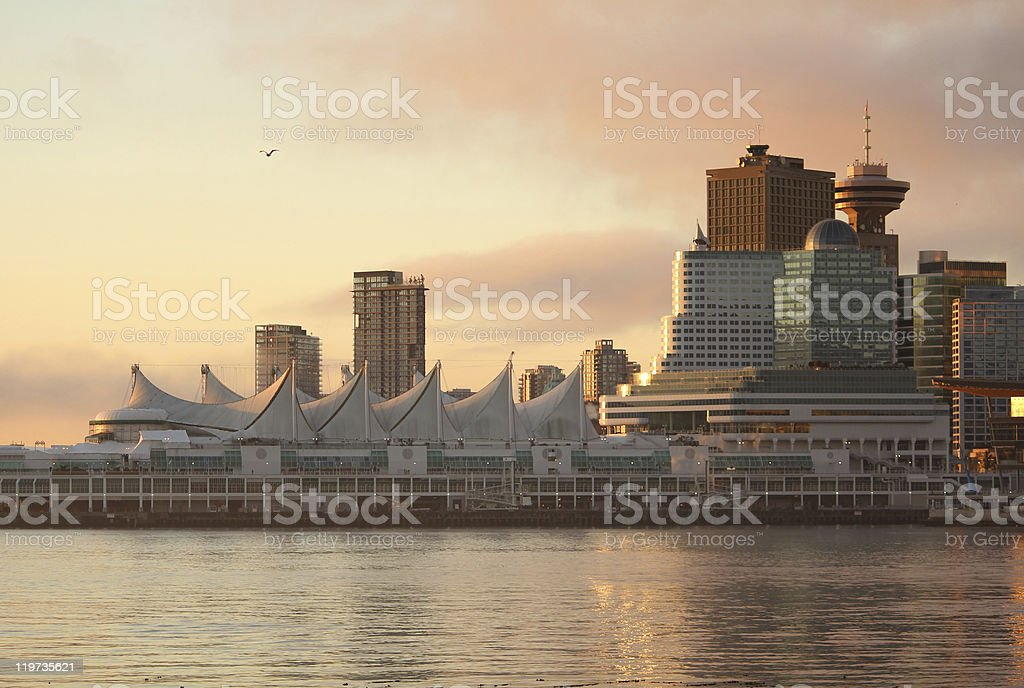 Canada Place Dawn, Vancouver stock photo