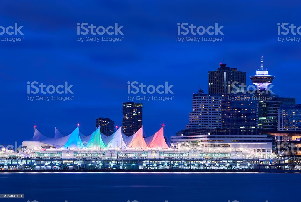 Canada Place Night Sails stock photo
