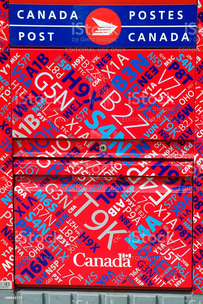 Canada Post Mailbox royalty-free stock photo