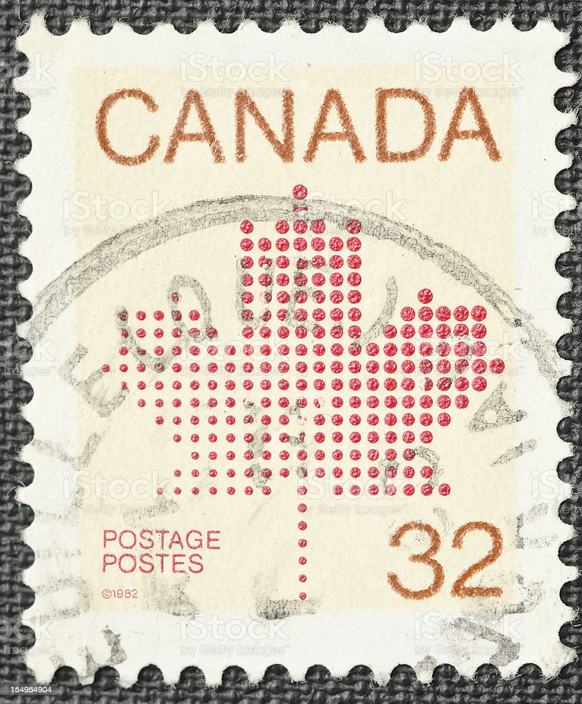 Canada Postage Stamp royalty-free stock photo