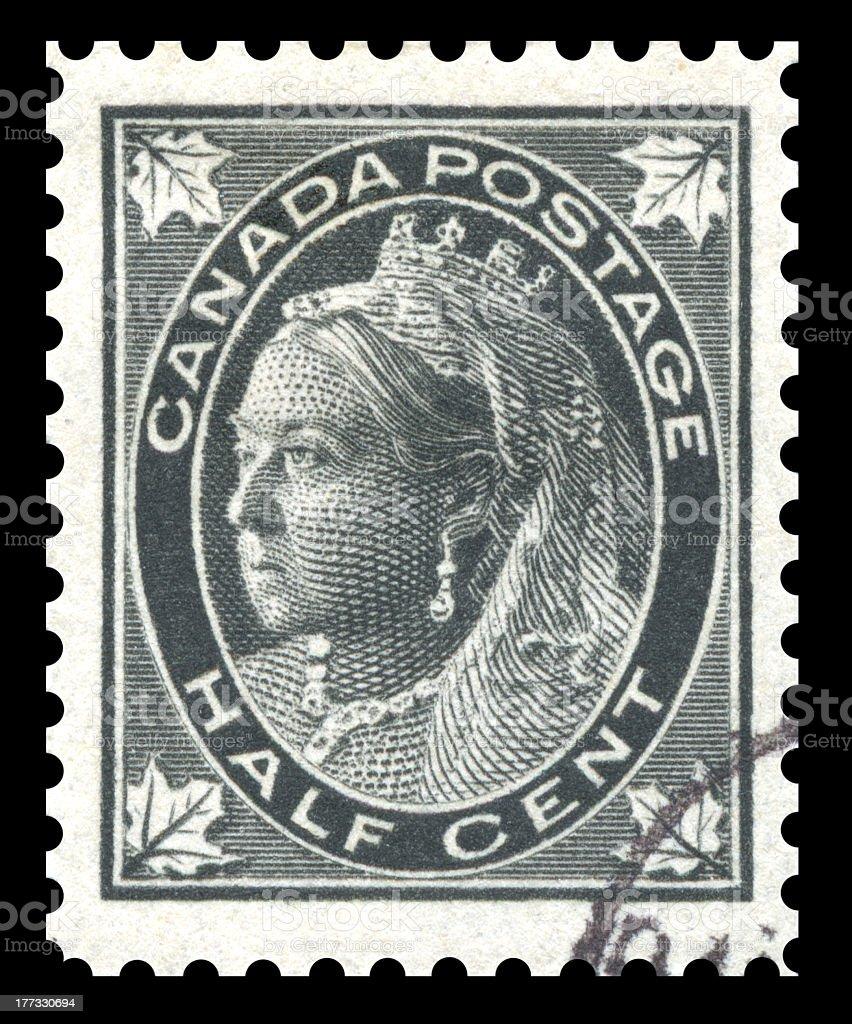 Canada Postage Stamp Queen Victoria stock photo