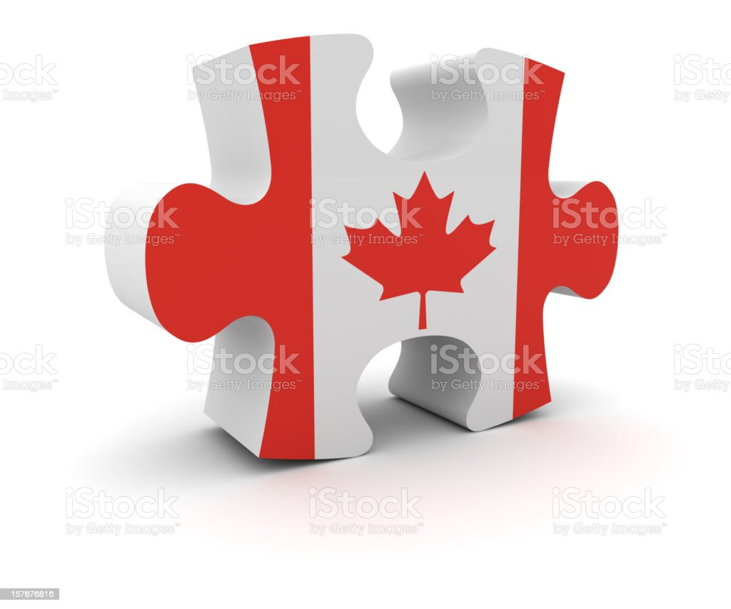 Canada Puzzle Concept royalty-free stock photo