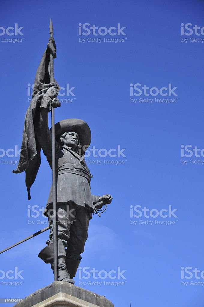 Canada, Quebec, Montreal - Paul Chomedey de Maison statue stock photo