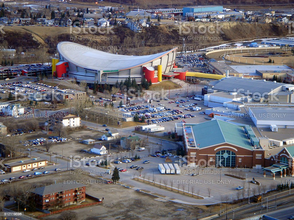 Canada: Saddledome in Calgary stock photo