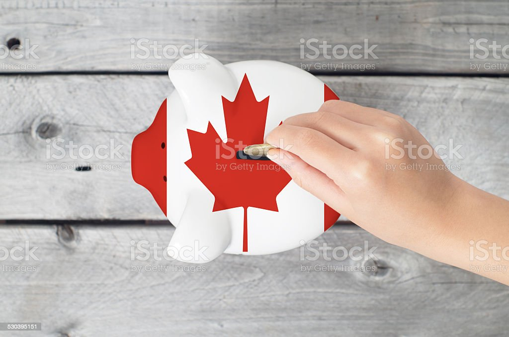 Canada saving concept stock photo